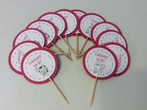These cupcake toppers are the perfect personalization for your party!